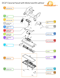 dyson dc cleanerhead parts diagram dc27 cleanerhead schematics
