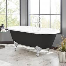 66 sanford cast iron clawfoot tub black