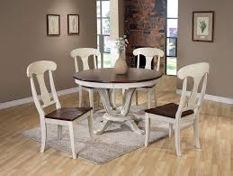 amazing dining room furniture mirror plywood varnished maple wood brass bar double pedestal round dark brown