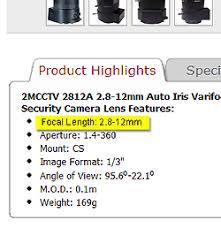 Cctv Lens Guide Choosing A Security Camera Lens Get Cctv