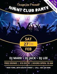 Free Party Flyer Templates Free Party Flyer Templates Download Davidhdz Co