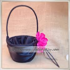 Fuschia flower girl basket
