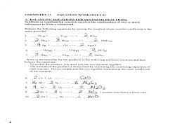 astounding worksheet writing and balancing chemical reactions six 1 chemistry unit 7 2 answers balan