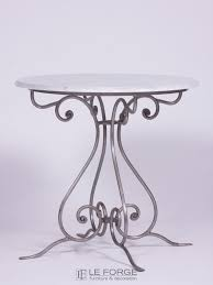 cafe table hand forged steel wrought iron