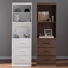 wood closet shelving. Belham Living Sloan Closet Unit With Drawers Wood Shelving T