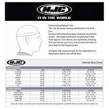 Hjc Helmet Size Chart Hjc Full Face Helmet Size Chart Best Picture Of Chart