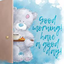teddy bear wishing a good morning