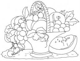 Small Picture fruit basket coloring pages Crafts and Worksheets for Preschool