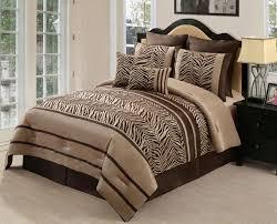 brown zebra print comforter set queen