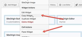 Copy Page Page Builder Copy Paste Siteorigin