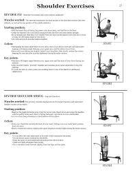 Shoulder Exercises Bowflex Xtl User Manual Page 29 80