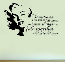 marilyn monroe fall together quote vinyl wall art sticker home deco silhouette decal amazon uk kitchen home on marilyn monroe wall art quotes with marilyn monroe fall together quote vinyl wall art sticker home