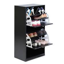 shoe storage furniture. furinno bu0026w 3tier 2door shoe storage cabinet black fnaj11041 u2013 furinnocom furniture