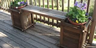 redwood planter box bench item 17