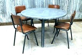 zinc top round dining table dining tables zinc top round dining table steel legs industrial style