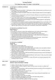 It Technical Support Resume Sample Breathtaking Templates Skills
