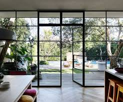 steel frame doors. The Wall Of Black-steel-framed Windows And Doors Is Something Rachel Was Very Particular About. \u201cThe Were Custom-made In Melbourne, Brought Up On A Steel Frame