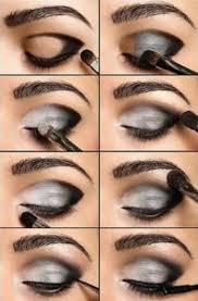 black and silver eye makeup
