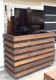 A Outdoor TV Homemade Custom TV Cabinet With Remote Lift