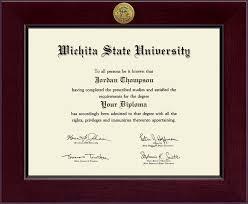 wichita state university century gold engraved diploma frame in  wichita state university century gold engraved diploma frame in cordova item 139143