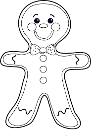 Gingerbread Man Printable Template Gingerbread Outline Coloring