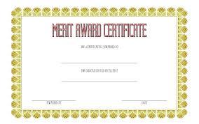 Merit Certificate Sample Delectable Academic Award Certificate Template Certificates And Awards