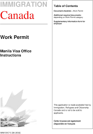 immigration work permit manila visa office instructions office instructions this application is made available by immigration refugees and citizenship