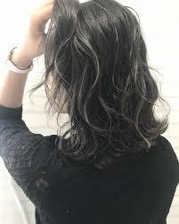 黒髪暗髪ハイライト18選ショートボブミディアムロングアッシュ