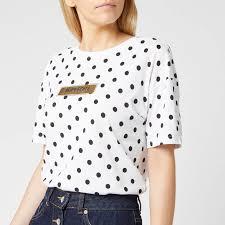 Superdry Uk Size Chart Women S Superdry Womens Studio 395 Polka Dot Aop Portland T Shirt Optic