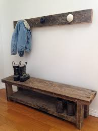 Wooden Coat Rack With Bench COAT RACK BENCH Little Missouri Homestead 20