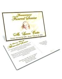 Memorial Announcement Cards Memorial Card Template Announcement Cards Download Service Free