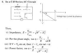 alternating current circuit. important-questions-for-class-12-physics-cbse-ac- alternating current circuit