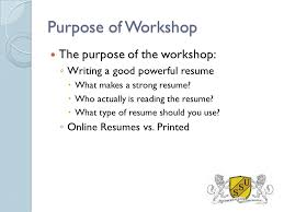 Resume Writing Workshop The Basics Made Easy Southern States