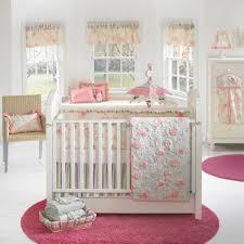 Bedroom Baby Girl Nursery Room White Cherry Wood Crib Boat Mobile Black  Wooden Wall Flooring Fur