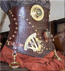 steampunk cosplay leather corset made in usa