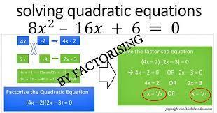 solve quadratic equation by factorising