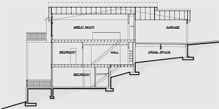 sloping lot house plans with basement new house plans for downward sloping lots very steep slope
