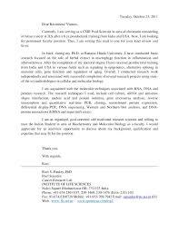 Biology Postdoc Cover Letter Example Molecular Biology Cover Letter