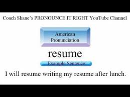 How to pronounce RESUME - American Pronunciation for ESL Students - YouTube