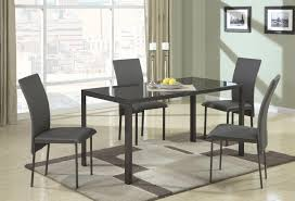 Metal Glass Dining Table Coaster Shelby 103741 103742 Black Metal And Glass Dining Table
