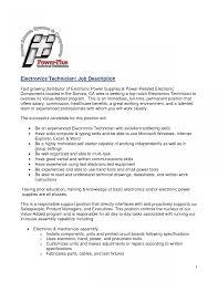 Templates Electronic Technician Resume Sample 329143 Computer Job