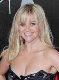 reese witherspoon long straight blonde hairstyle with bangs