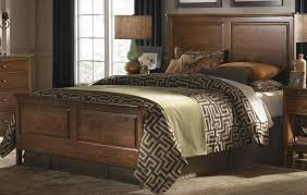 stylish kincaid bedroom furniture cherry park solid wood panel bedroom set