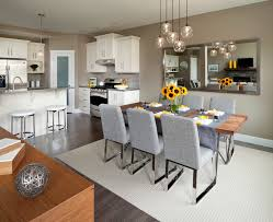 glass pendant lights over kitchen table