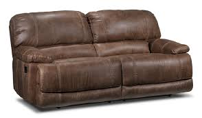 Leons Furniture Kitchener Durango Reclining Sofa Saddle Brown Leons