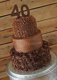 All Chocolate 40th Birthday Cake Rose Bakes