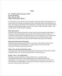 Memo Example For Business 13 Business Memo Templates Sample Word Google Docs