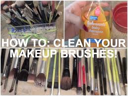 how to clean your makeup brushes with baby shoo you