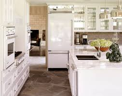 kitchens with white appliances and white cabinets. Kitchens With White Cabinets And Appliances All Fridge Kitchen Decorations 16