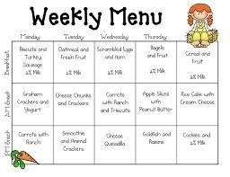 Sample Breakfast Menu Template Custom Sample Daycare Menu Templates Preschool Pinterest Daycare Menu